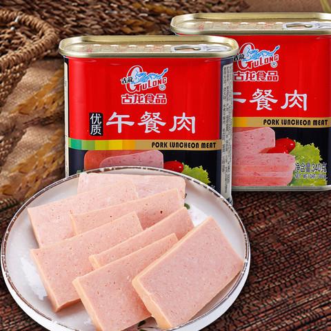 GuLong 古龙 古龙 午餐肉 速食罐头 泡面火锅搭档 340g*2罐
