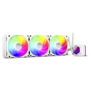 SILVER STONE 银欣 银欣(SilverStone)极冻PF360白色一体式水冷(三腔体设计/ARGB光效/镜面冷头/PWM风扇/支持intel.AMD平台)