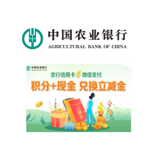 农业银行 积分+现金兑换微信支付立减金