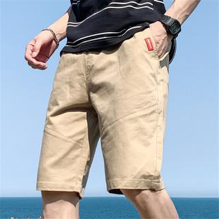 POTE 拉夏贝尔短裤男士2021夏季潮流牌宽松五分工装运动休闲裤薄款
