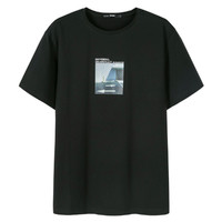 Semir 森马 12B049001210-9000  男士圆领套头印花短袖T恤