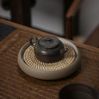SUYI 素以 茶具 日式粗陶汝窑壶承干泡台