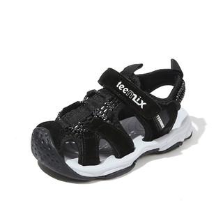 Teenmix 天美意 天美意童鞋男童凉鞋时尚炫酷护趾透气沙滩凉鞋(26-31)
