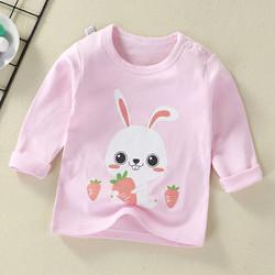 昭鹤 儿童T恤长袖春秋季纯棉上衣婴幼儿卡通男女童装宝宝打底衫 64 80cm