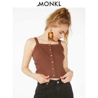 MONKI 露腰上衣单排扣打底纯色背心吊带女 0746657