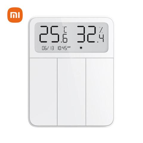 MI 小米 小米米家屏显开关 智能三开单控 清晰大屏 温湿度传感器 手机远程控制 无需布线