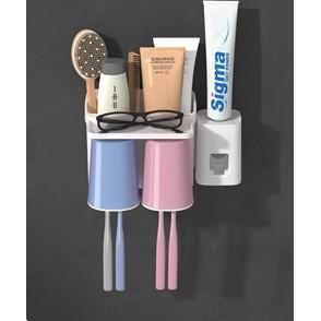 尚动 家用卫生间壁式牙刷置物架