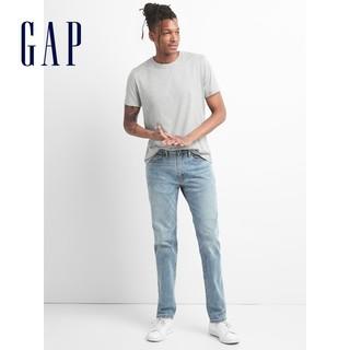 Gap 盖璞 男装浅色水洗直筒牛仔裤春夏213974 休闲长裤男士弹力裤子