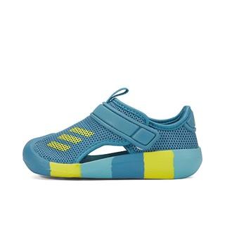 adidas 阿迪达斯 2021春季新款阿迪达斯男小童游泳沙滩凉鞋运动包头沙滩鞋透气童鞋