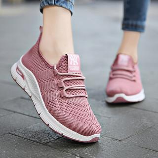 颐娉春季女士运动鞋飞织透气软底舒适跑步鞋老北京布鞋妈妈女鞋子