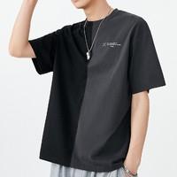 PEACEBIRD MEN 太平鸟风尚男装  BWDAB2575 拼接短袖T恤