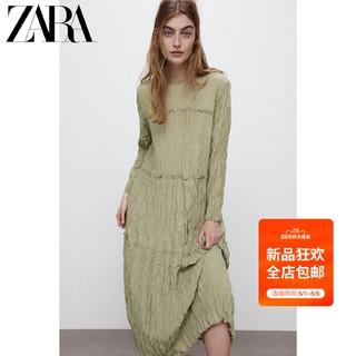 ZARA  新款 女装 皱痕效果连衣裙 08741721811