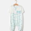 Wellber 威尔贝鲁 婴儿分腿睡袋 水波纹 7分袖