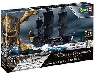 Revell 威望 Revell威望 拼装模型 05499 船 1:150 - 黑珍珠海盗船黑色珍珠,带轻松装系统多色部件,无需涂色和粘接