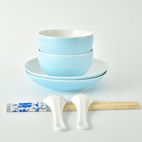 句途 蓝色梦想 骨瓷餐具套装  8件套