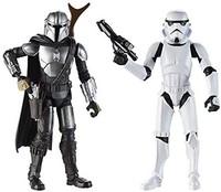 Star Wars 曼达洛里人 5 英寸比例公仔 2 件装,