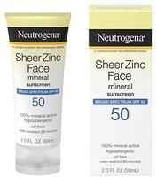 Neutrogena 露得清 薄锌干爽 SPF30 防晒霜 2 液盎司