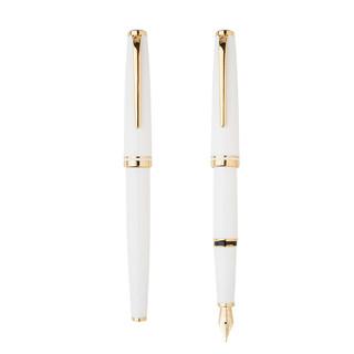 京东PLUS会员 : HERO 英雄 981-2铜杆白色金夹铱金钢笔/墨水笔