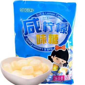 京东PLUS会员:COCON 可康 咸柠檬味水果糖 500g