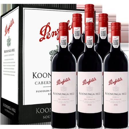 Penfolds 奔富 木塞款澳洲进口红酒整箱 奔富寇兰山西拉赤霞珠干红葡萄酒750ml*6