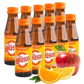 维他500 韩国进口 维生素果味饮料 100ml*10瓶