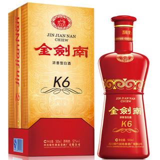 剑南春 金剑南 K6 52%vol 浓香型白酒 500ml