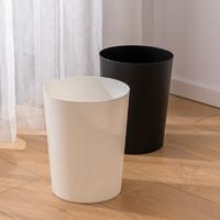 清野の木  家用垃圾桶象牙白 客厅厨房卫生间办公室垃圾篓纸篓清洁桶