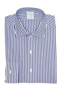 Brooks Brothers 布克兄弟 Pinstripe Print Long Sleeve Milano Fit Shirt