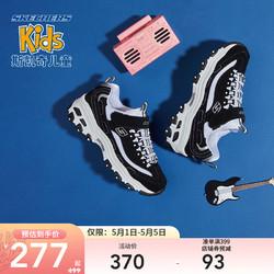 SKECHERS 斯凯奇 Skechers斯凯奇童鞋 男女同款夏季儿童运动老爹鞋 亲子熊猫鞋996212L\/664164L 黑色/白色/BKW 30