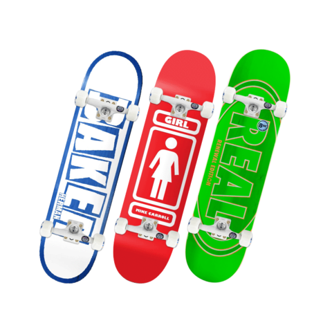 bd滑板双翘滑板欧美进口baker girl专业板王一博同款real成人滑板