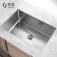 hommy 佳佰 X佳勒仕 厨房水槽单槽 304不锈钢手工水槽