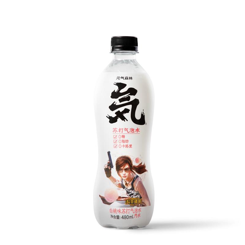 元气森林白桃气泡水480ml*4瓶