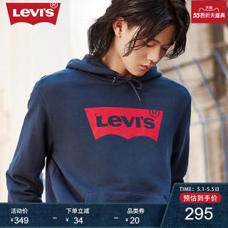 Levi's 李维斯 Levi's李维斯男女同款经典LOGO纯棉连帽抽绳百搭休闲卫衣 19622