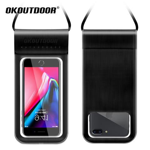 OKOutdoor 手机防水袋可触摸屏游泳温泉漂流雨天防雨密封外卖骑手专用潜水套
