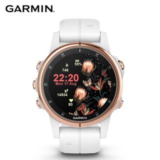 GARMIN 佳明 佳明(GARMIN)fenix5s  Plus 光电心率健身音乐时尚NFC支付GPS导航户外旗舰级运动手表(米色玫瑰金)