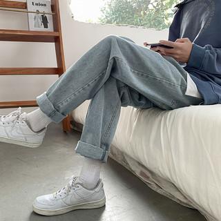 Tonlion 唐狮 62621FC0083432601 男士直筒牛仔裤