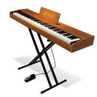 博仕德 电钢琴88键初学者自电子钢琴 专业演奏 力度键-原木色(折叠琴架+大礼包+琴包)