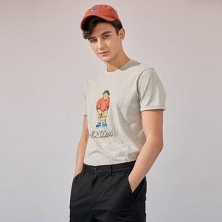 男装韩版时尚休闲短袖T恤夏季卡通图案男士上衣