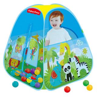Fisher-Price 费雪 儿童围栏帐篷 欢乐游戏屋 送40海洋球