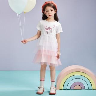 Hello Kitty 凯蒂猫 女童短袖连衣裙