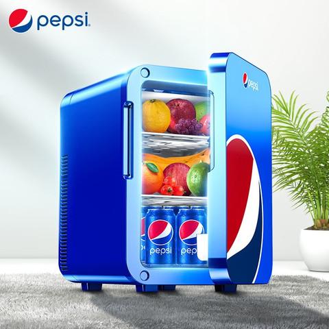 PEPSI 百事 百事(pepsi)车载冰箱 18L车家两用迷你小冰箱小型家用学生宿舍办公室冷藏冷暖箱 单核 BS-1801