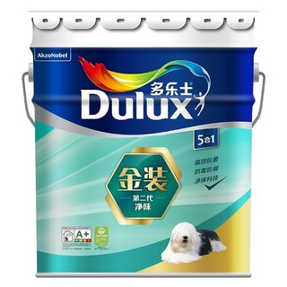 Donless 多乐士 多乐士(dulux)金装第二代五合一净味内墙乳胶漆 油漆涂料 墙面漆A8151 18L定制品