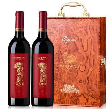 AUSWAN CREEK 天鹅庄 澳洲原瓶原装进口红酒 天鹅庄干红葡萄酒双支红酒礼盒  1号西拉 750ml*2