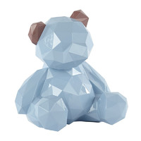 宝贝熊 多边形小熊摆件小号  贾晓鸥作品摩登马戏团 粉蓝色 小号