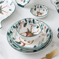 贝贝说 小鹿陶瓷碗 4.5英寸 4个装