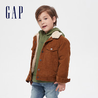 Gap 盖璞 男女童洋气灯芯绒棉服夹克