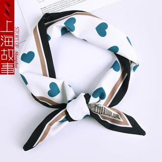shanghai story/上海故事 10030379529628 女士丝巾  细格爱心 绿色