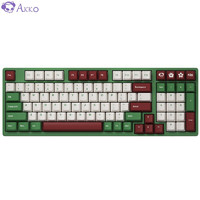 Akko 艾酷 AKKO 3098 DS 红豆抹茶 98键机械键盘 AKKOv2 粉轴