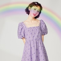 LEDIN 乐町 ✖️ 爱心熊联名 女士连衣裙 CWFAB2320