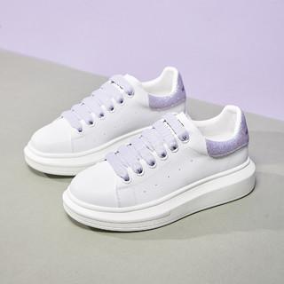 Semir 森马 12113480521 女士小白鞋